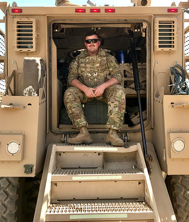 Holy Name Medical Center Security team member Brendan McLaughlin<br /> <br /> U.S. Army 2013-Present<br /> Station: Currently in Afghanistan<br /> Position: Carpenter and Mason<br /> <br /> Brendan is currently deployed in Afghanistan on this Veterans Day 2017. Our thoughts and prayers are with him for a safe journey.