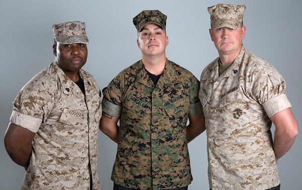 Holy Name Medical Center Veteran Marines (LtoR) Anthony Cooper, Manny Gonzalez, and David Van Bever.