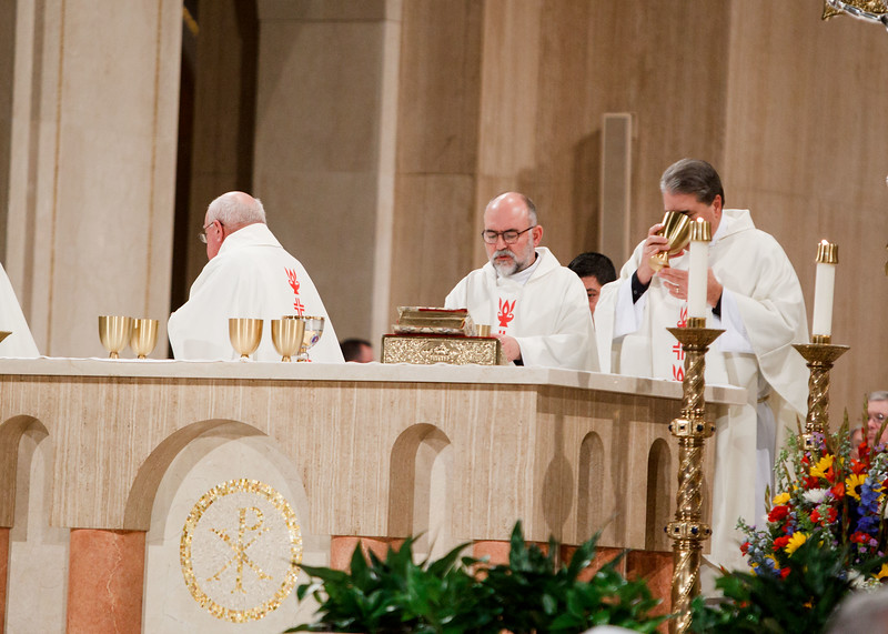 Clergy take part in the Vigil Mass for Life, held Jan. 26 at the Basilica of the National Shrine of the Immaculate Conception in Washington, D.C. The principal celebrant of the Mass was New York Cardinal Timothy Dolan.<br /> Pilot photo/ Gregory L. Tracy