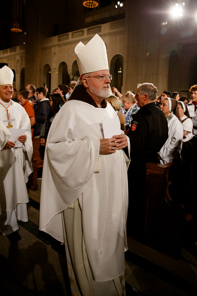 Cardinal Sean O'Malley takes part in the closing procession of the Vigil Mass for Life, held Jan. 26 at the Basilica of the National Shrine of the Immaculate Conception in Washington, D.C. <br /> Pilot photo/ Gregory L. Tracy
