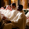 Priests take part in the Vigil Mass for Life, held Jan. 26 at the Basilica of the National Shrine of the Immaculate Conception in Washington, D.C. <br /> Pilot photo/ Gregory L. Tracy
