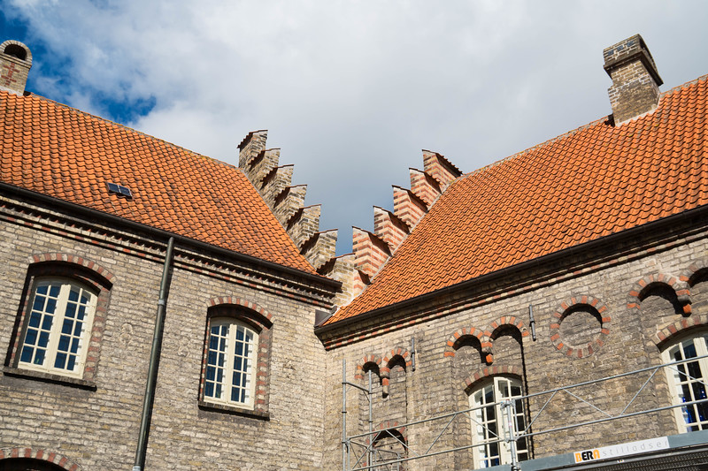 Interesting roof trim - shot from the courtyard of the monastery
