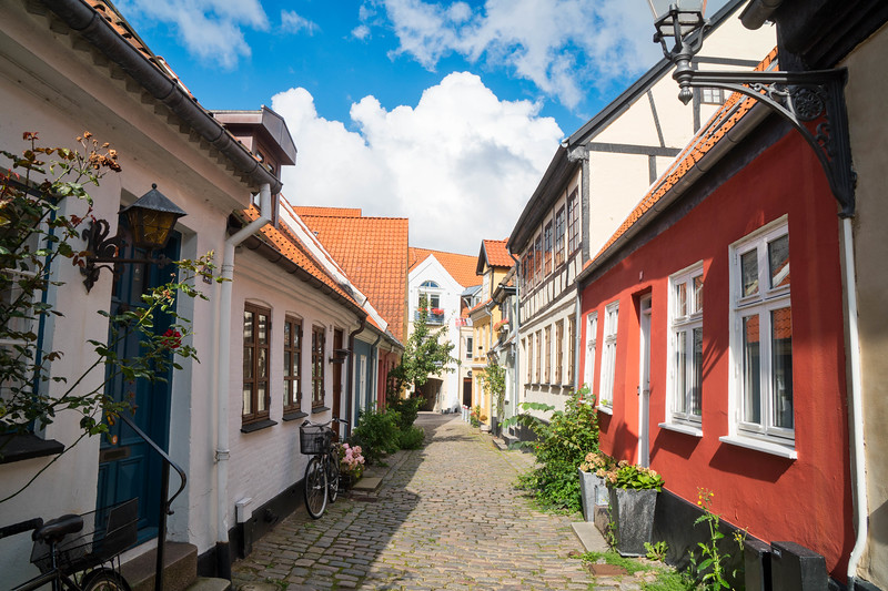 Narrow streets are still used mostly as residences
