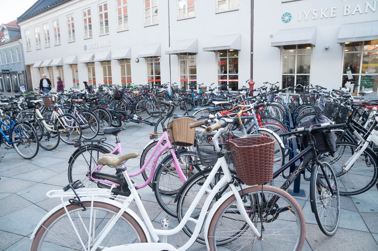 More bicycles - don't see many cars in town