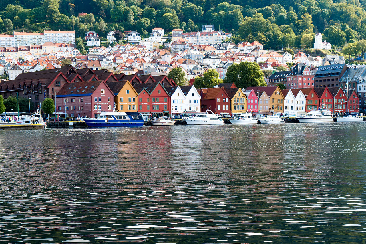 The Bryggen is Bergen's colorful historic waterfront district