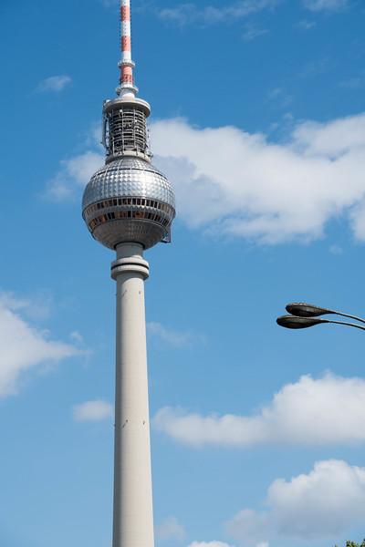 Berlin's 360 meter high TV tower and restaurant