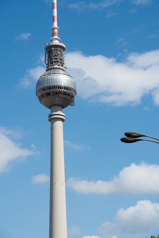 Berlin's 360 meter high TV tower and restaurant