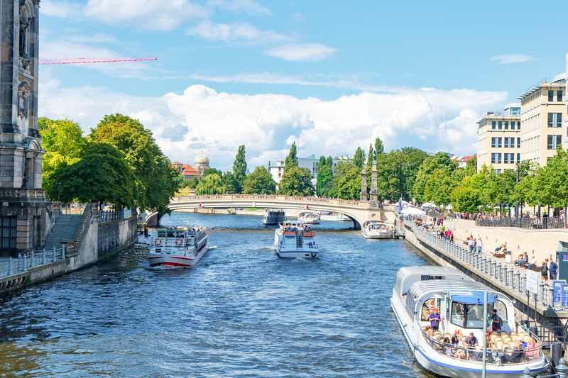 Spree River near Berlin Cathedral
