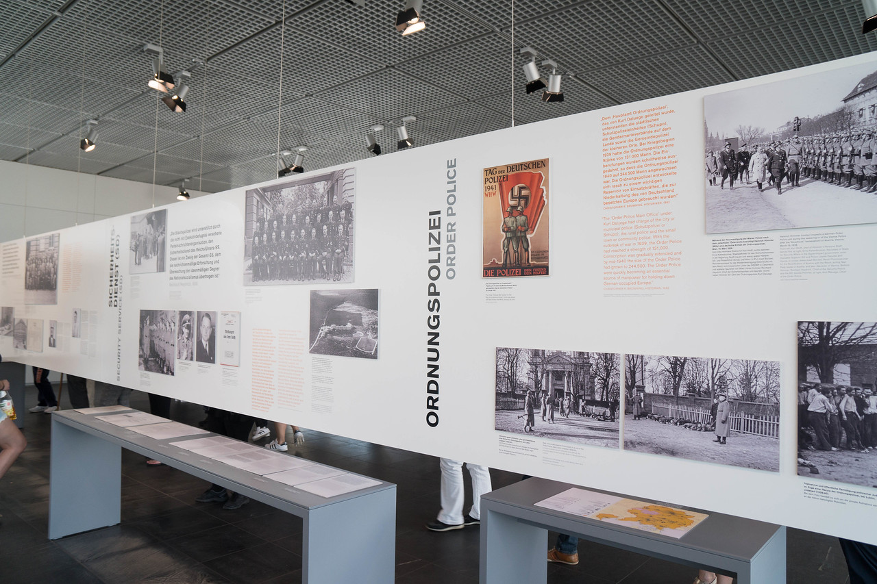 Topography of Terror - one of several exhibit rooms