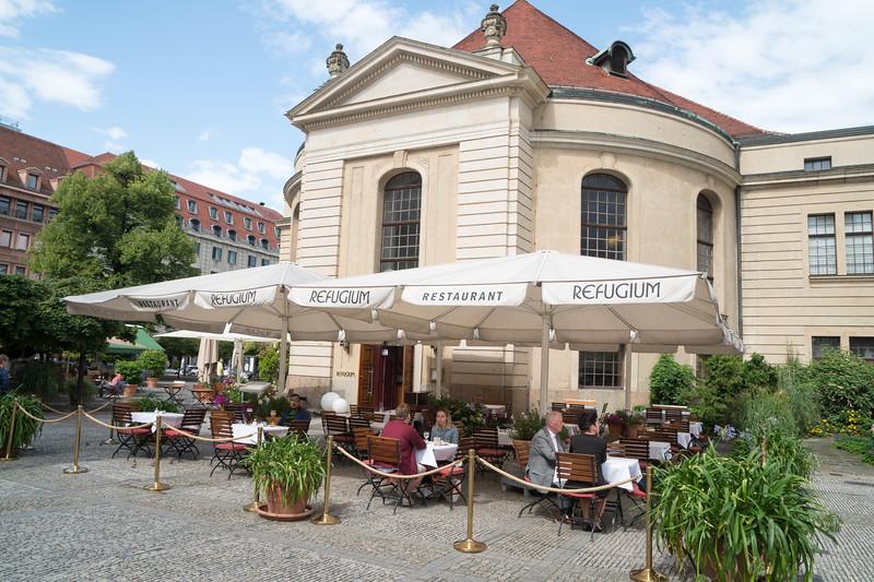 Gendarmenmarkt Square Restaurant where we eat lunch