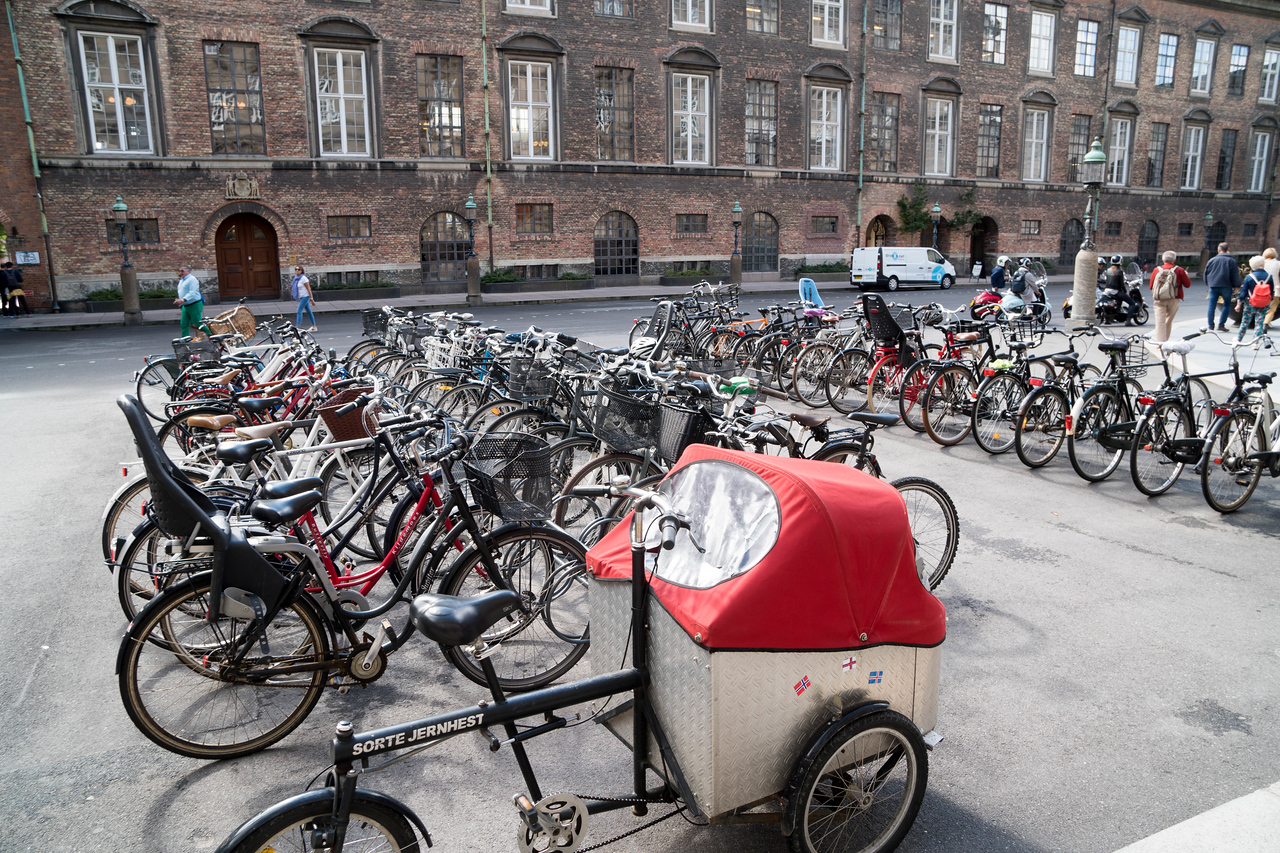 Denmark has the highest % pf people who use bicycles