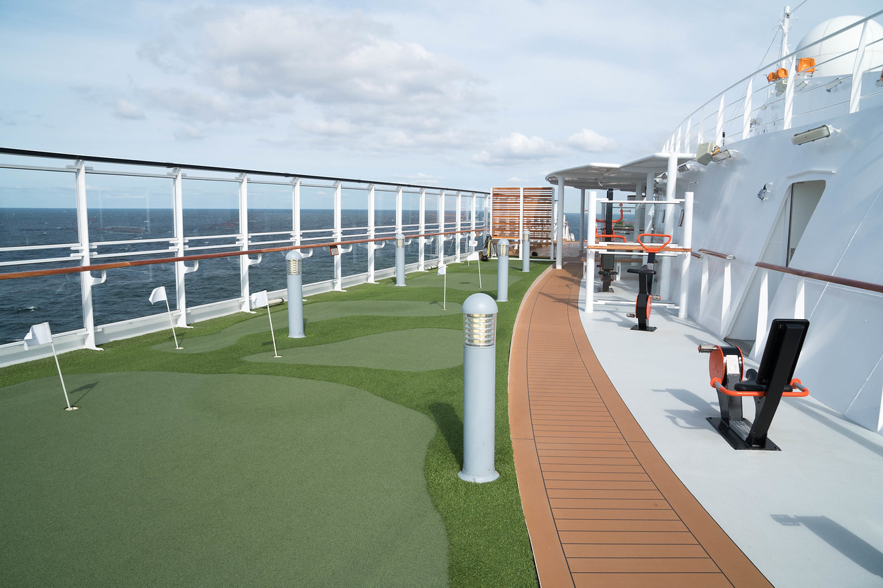 Deck 8 - Starboard side Sports area
