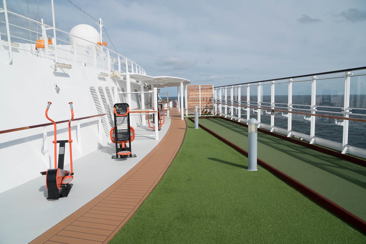 Deck 8 - Port side sports area