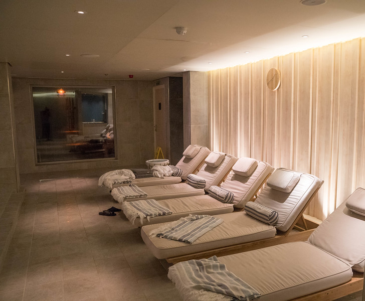 Steam Room relaxation area in the Spa - Deck 1