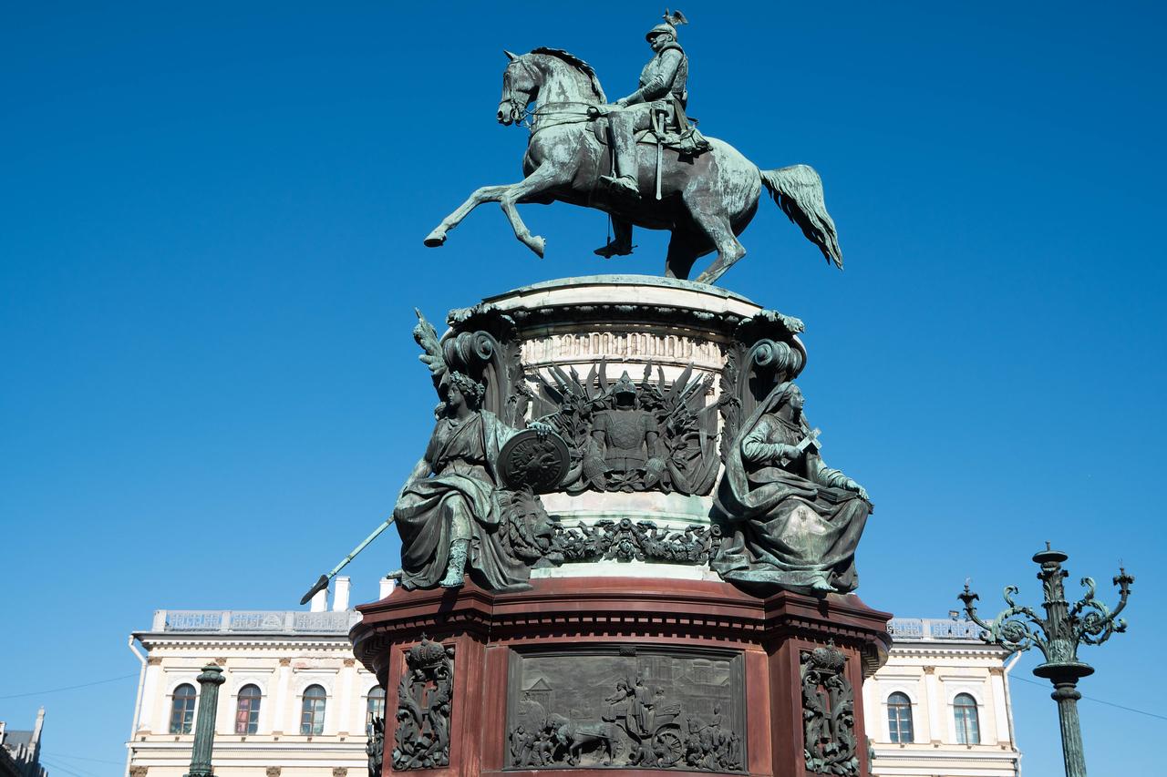 Statue of Russian Tsar, Alexander II,  on a horse