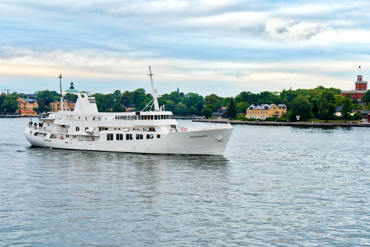 Private Yacht leaving Stockholm