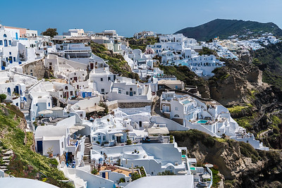 Thira, the capital of Santorini