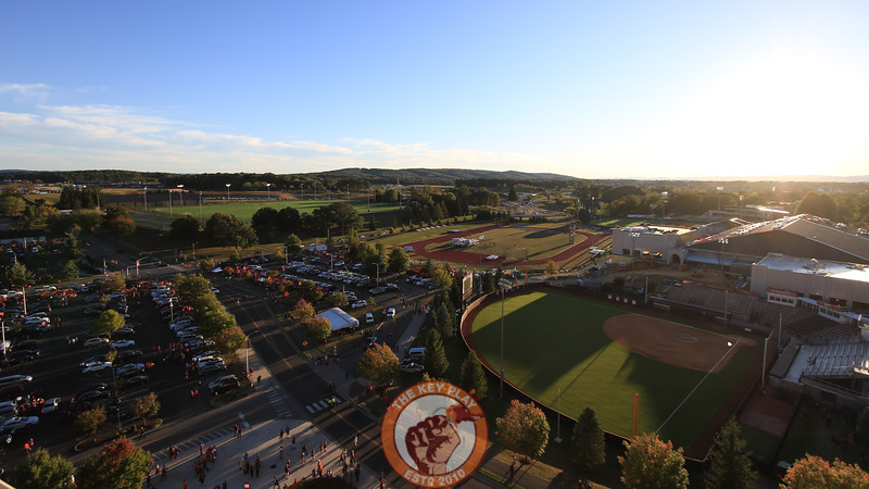 The sun begins to set over the Virginia Tech athletics complex and Southgate Drive. (Mark Umansky/TheKeyPlay.com)