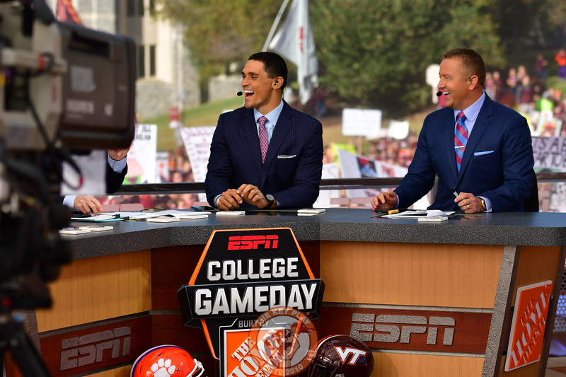 College GameDay's  David Pollack and Kirk Herbstreit