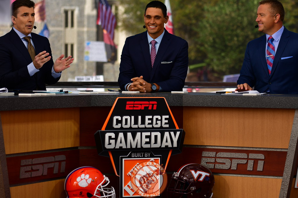 College GameDay's Rece Davis, David Pollack and Kirk Herbstreit
