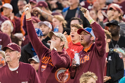 Fans shake their keys during a defensive third down in the Camping World Bowl between Virginia Tech and Oklahoma State in Orlando, Fl., Thursday, Dec. 28, 2017. (Special by Cory Hancock)