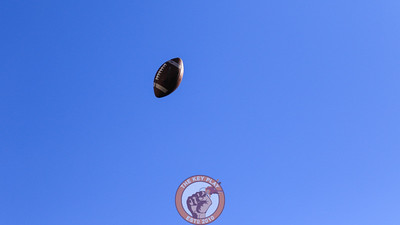A Joey Slye kickoff sails through the air for another touchback in the fourth quarter. (Mark Umansky/TheKeyPlay.com)