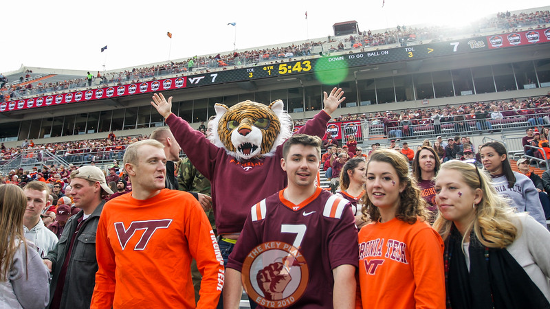 A fan wearing a tiger mask stands in the South Endzone. (Mark Umansky/TheKeyPlay.com)
