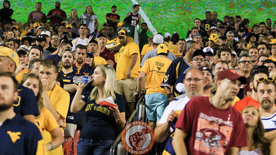 West Virginia fans start to file out of FedEx Field in the 4th quarter as Virginia Tech enters the redzone looking to break the tie. (Mark Umansky/TheKeyPlay.com)