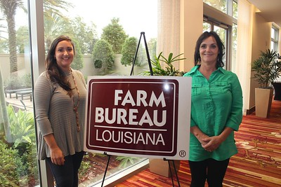 On October 20, 2017, Holli Cranford, left, and Priscilla Soignier, right, of Lincoln Parish attended the Louisiana Farm Bureau's Women's Leadership Conference Fall Conference in Baton Rouge, Louisiana.