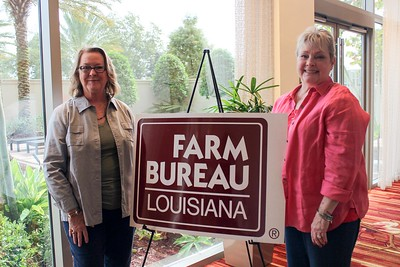 On October 20, 2017, Louisiana Farm Bureau Women's Leadership Committee Claiborne Parish Chair Christi Wilson, left, and Genie Marsalis, right, attended the Louisiana Farm Bureau's Women's Leadership Conference Fall Conference in Baton Rouge, Louisiana.
