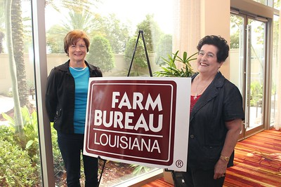 On October 20, 2017, Louisiana Farm Bureau Women's Leadership Committee District X Director Sandra Sotile, right, and District X Alternate Director Judy Bourg, left, attended the Louisiana Farm Bureau's Women's Leadership Conference Fall Conference in Baton Rouge, Louisiana.