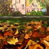 """Boyd Chapel in Autumn"" by Ivana Xu '18"