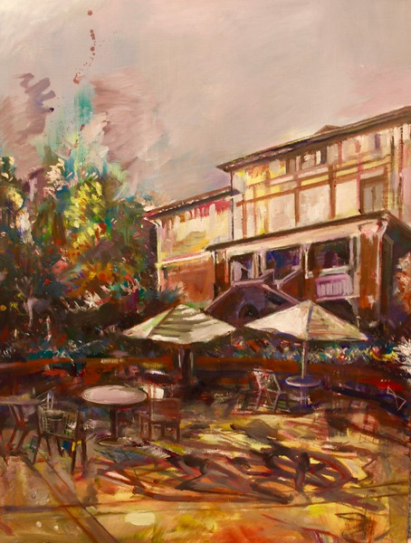 """Tyrer Terrace at Dawn"" by Tori Kim '19"