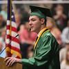 ADAM RANDALL | THE GOSHEN NEWS<br /> Wawasee High School valedictorian Evan Krueger addresses the graduating class.