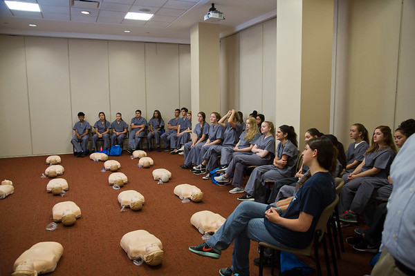 The Healthcare Careers Discovery Program offers an innovative, simulation-based approach for high school students aspiring to a career in the evolving field of healthcare. The active learning environment includes a combination of classroom and simulation learning experiences to introduce the student to various clinical professions and skills. American Heart Association CPR/AED and First Aid Certification are included.<br /> <br /> Returning students are matched with providers in their field of interest to observe these professionals. Roundtable discussions and presentations allow participants to share their knowledge. Simulated patient encounters require the students to respond to emergent situations and promote teamwork. New skills are introduced with hands-on demonstrations, including a special suturing workshop. As a take-away from the program, each participant records a professionally produced, personalized scholarship video showcasing his/her participation in the program and projecting his/her future potential in health care.