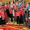 Roger Schneider | The Goshen News<br /> Friends gather for a group photo following the eigth-grade graduation and awards ceremony at Westview Jr.-Sr. High School Wednesday.