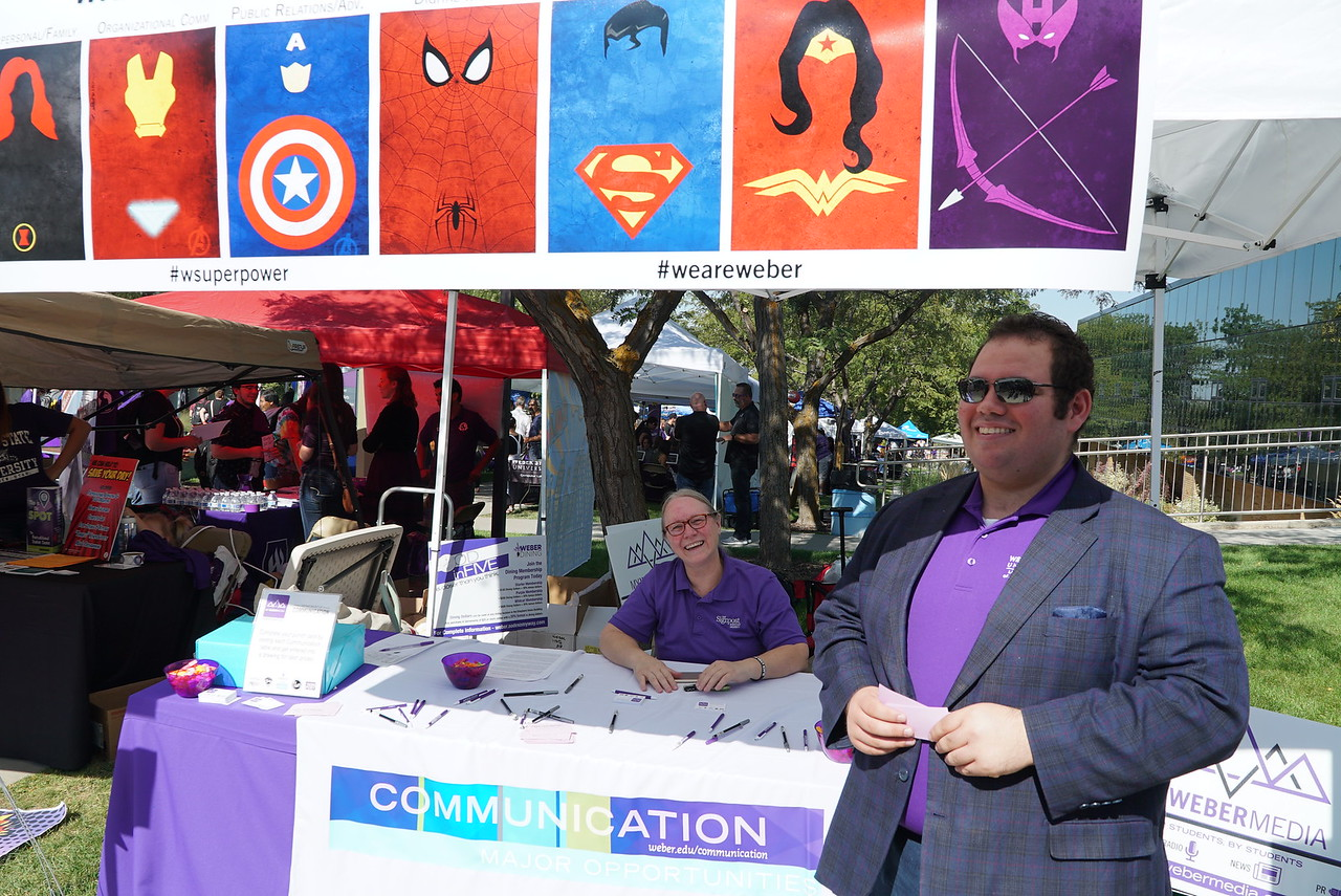 Communication Department booth
