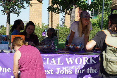 Social Work booth