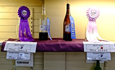 Best Wine, Grand Champions and 1st Place