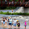 River Fest attendees got to dip their toes in the Fox River on Saturday. After days of rain, the river crested on Tuesday, adding to flooding issues across northern Illinois.