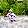 Jimmy Tibensky, from Wayne, Ill., navigates the waters on the Marge Cline Whitewater Course during the fourth-annual Illinois Whitewater Festival on Saturday, during the annual River Fest celebration in downtown Yorkville. The course was slalom-style, requiring competitors to pass both downstream and upstream through checkpoints.