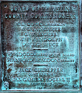 County Jail plaque