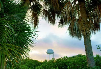 Cedar Key Water Tower Sunrise