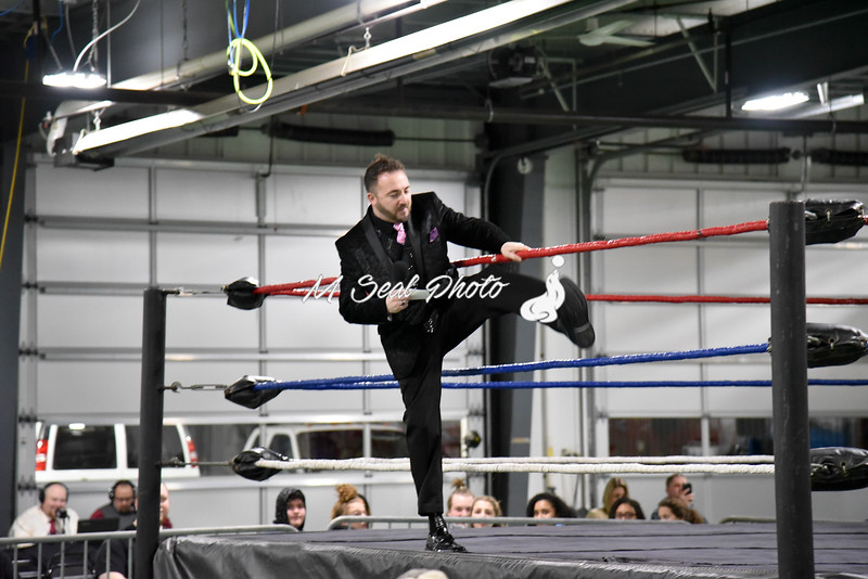 ring announcer david adams