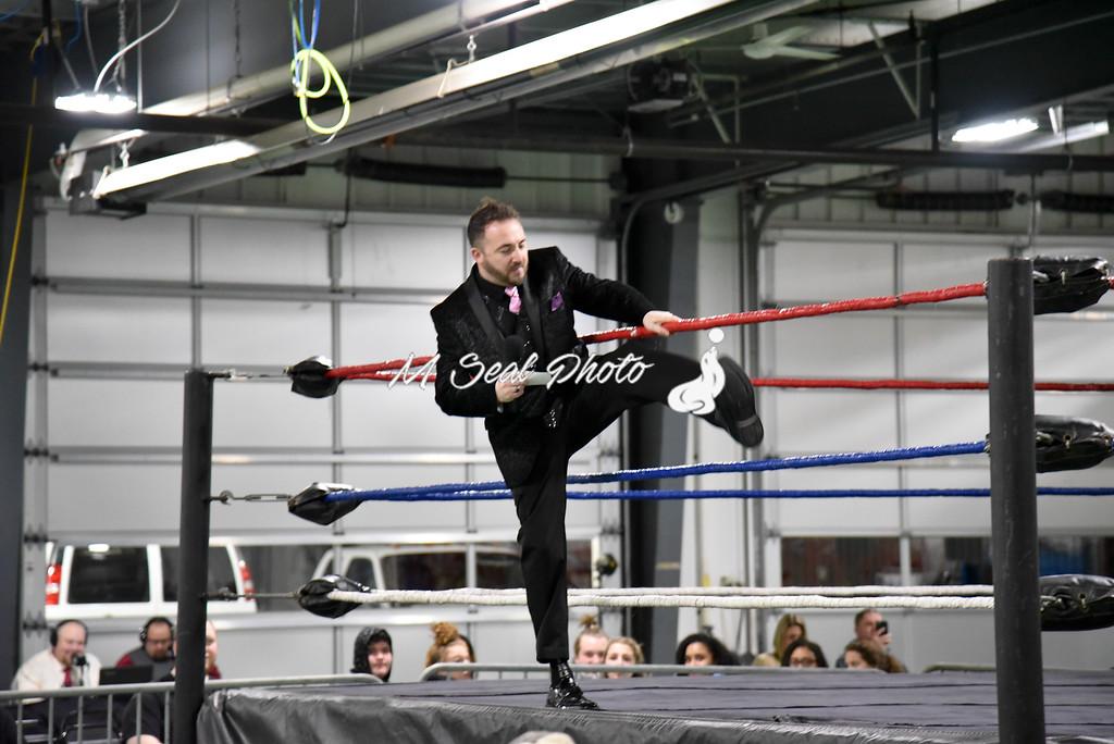 ring announcer david adams