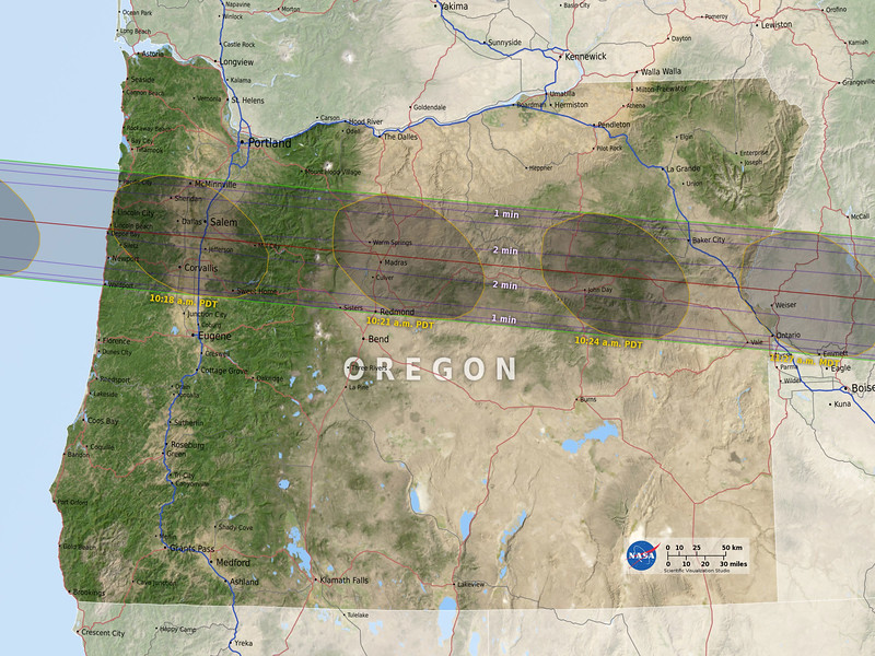 Eclipse map by NASA.