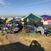 our Eclipse camp at farmer's field near Madras