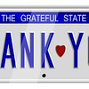 Thank you number plates