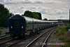 """The 1420 Heuston - Cork """"Belmond Grand Hibernian"""" Spl. passes Portlaoise Station running 63 minutes late. The train was recessed in Sallins Loop for a period of time for a reported fault to be checked out. Tues 30.05.17"""