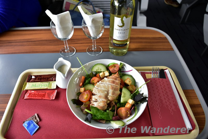Lunch with a bottle of wine (for two) onboard the Enterprise from Belfast to Dublin. Sun 28.05.17